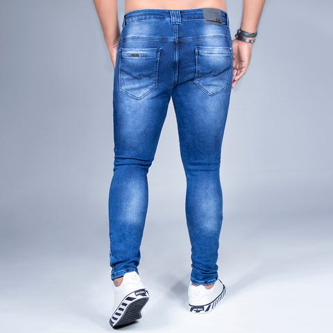 Men's Faded Wash Skinny Jeans, 31382