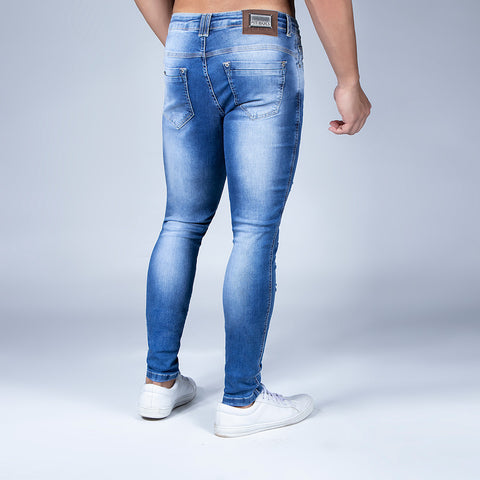 Men's Destroyed Slim Jeans - 31552