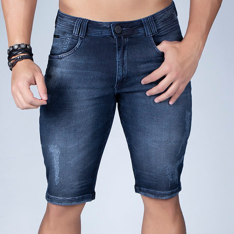 Men's Basic Denim Bermudas Shorts, 31554