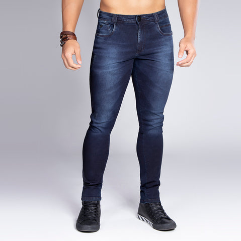 Men's Dark Denim Slim Jeans, 32530