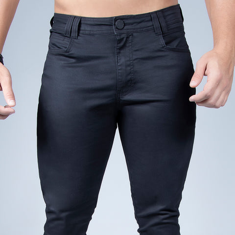 Men's Full Black Slim Jeans, 32684