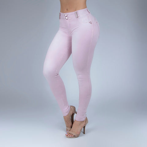 Women's Baby Pink Skinny Jeans, 30064