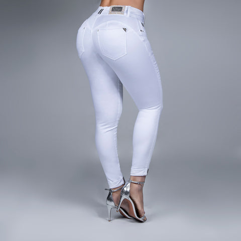 Women's White Skinny Ankle Jeans, 30733