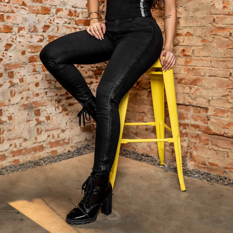 Women's Full Black Skinny Jeans, 30616