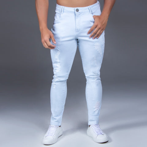 Men's Destroyed Slim Jeans - 32457