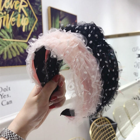 Tulle Polka Dot Headband