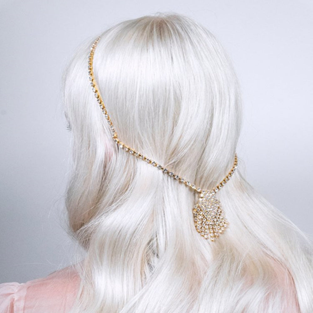 Crystal Hair Chain Headpiece