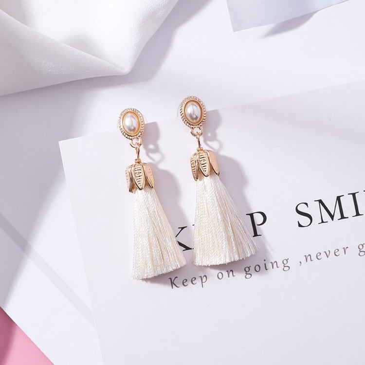 Opal Tassel Earrings