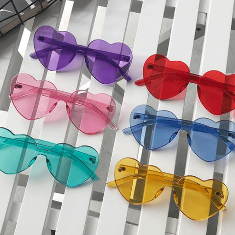 Acrylic Heart Sunglasses