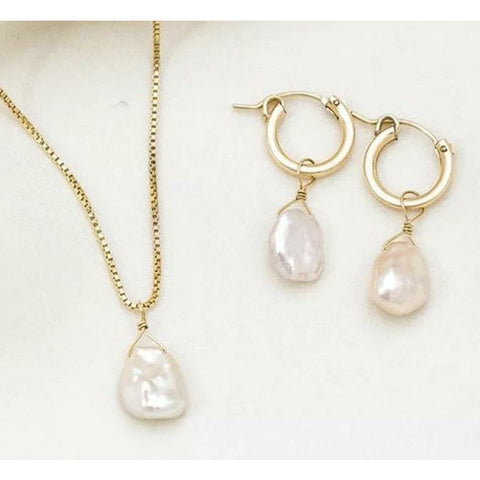 Pheobe Pearl Necklace & Earrings