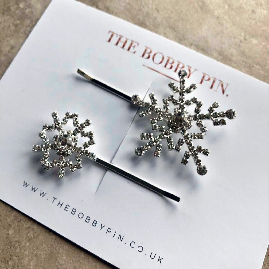 Snow Flake Hair Pins