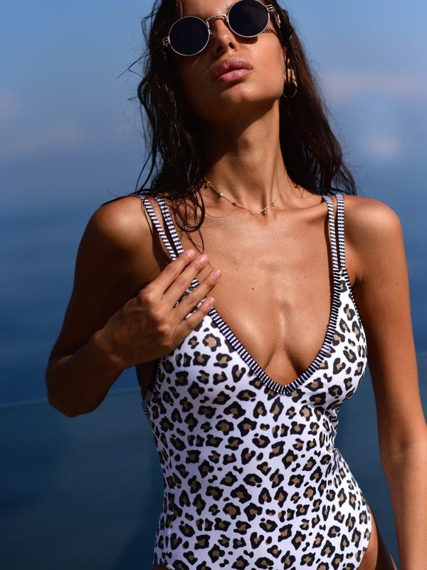 Amalfi One Piece in Leopard