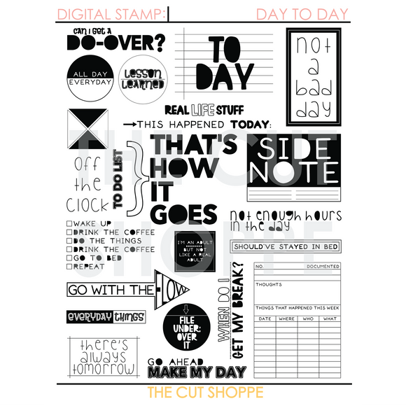 Day to Day Digital Stamp