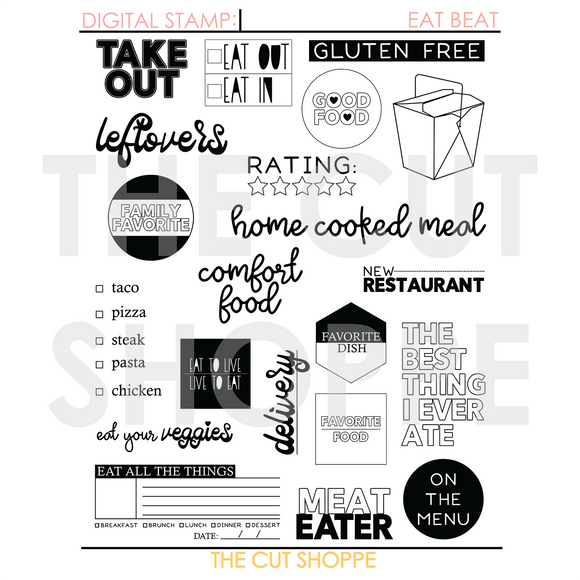 Eat Beat Digital Stamp
