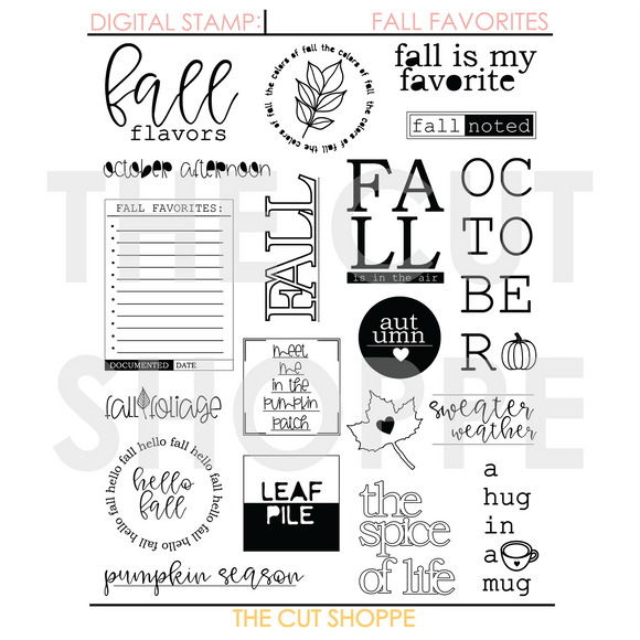 Fall Favorites Digital Stamp