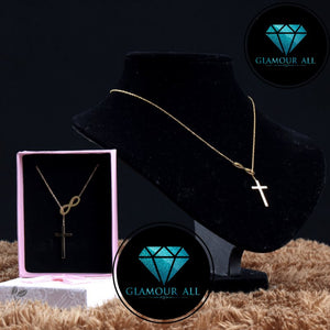 Glamour All Infinity Cross Necklace