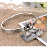 Glamour All Love-Lock Bracelet & Necklace