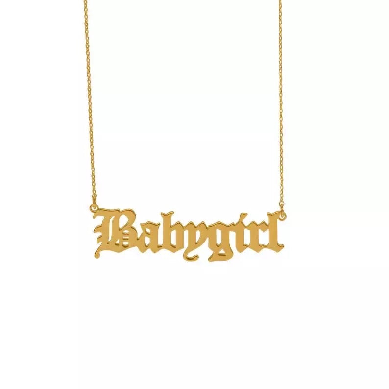 BABYGIRL 18k gold plated necklace