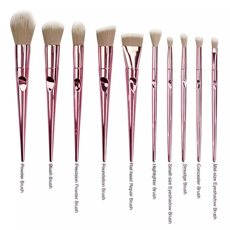 ROSÈ GOLD BRUSH SET