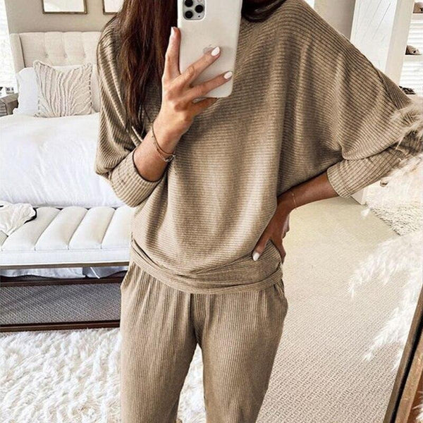 Knit Ribbed 2pc Set Style Casual
