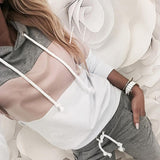 Casual O-Neck Hoodies & Long Pants Sportwear Outfits
