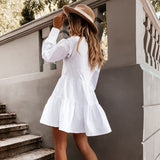 Blouse shirt dress with frappe