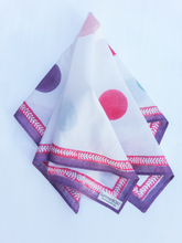 Load image into Gallery viewer, Cotton White Polka Square Scarf