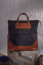 Load image into Gallery viewer, Canvas Leather Elephant Handbag