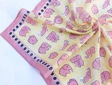 Load image into Gallery viewer, Cotton Elephant Square Scarf