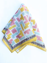 Load image into Gallery viewer, Cotton Tetris Square Scarf