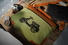Load image into Gallery viewer, Canvas Leather Scooter Laptop Bag