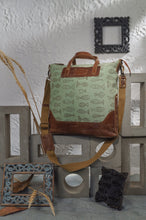 Load image into Gallery viewer, Canvas Leather Fishes Handbag