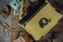 Load image into Gallery viewer, Canvas Leather Elephant  Laptop Bag
