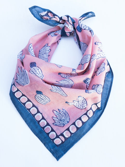 Cotton Cactus Square Scarf