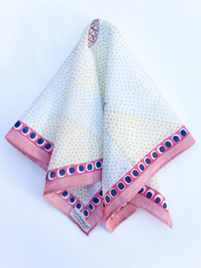 Cotton Pastels Fish Square Scarf