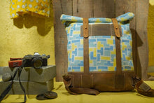 Load image into Gallery viewer, Canvas Leather Backpack Bag