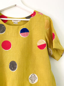 Yellow Candy Half-Sleeve Top