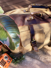 Load image into Gallery viewer, Canvas Beige Duffle Bag