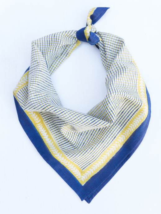 Cotton Chex Square Scarf