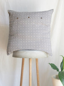 Linen Grey Cushion With Birdies