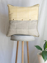 Load image into Gallery viewer, Linen kantha Cushion Cover With Cage