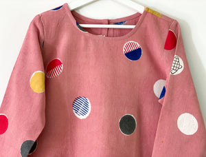 Peach Pink Candy 3/4Sleeve Dress