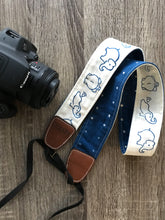 Load image into Gallery viewer, Camera Strap with White Elephants
