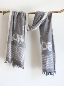 Khadi Scarf With Vespa