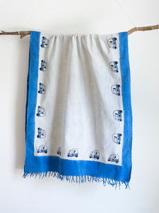 Khadi Scarf With Tuk Tuk