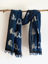 Load image into Gallery viewer, Khadi Scarf With Elephant