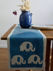Indigo Runner With Elephants