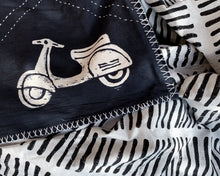 Load image into Gallery viewer, Kantha Quilt With Scooters