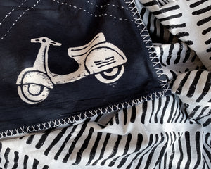 Kantha Quilt With Scooters