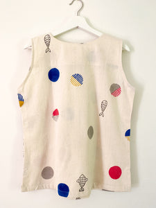 White  Candy Sleeveless Top